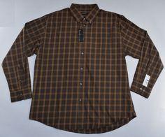 NWT VAN HEUSEN Men's Shirt Plaid Long Sleeve Size XL (17-17½)  #VanHeusen