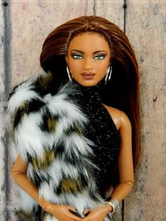 """Absolutely stunning repaint of the Barbie Basics 2.5 """"Metallic Collection"""" series of dolls Model 08 by Tonya of Doll Anatomy, known on Ebay as """"marineraluna"""" - The original factory face paint was completely removed, acrylic paints applied then permanently sealed."""