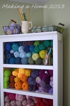 Making A Home: my yarn storage solution