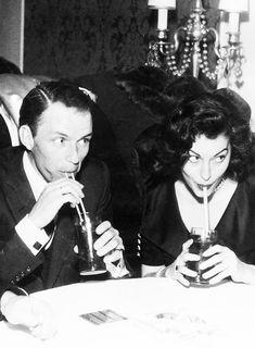 Frank Sinatra took Ava Gardner to Acapulco for a secret holiday. He threatened the photographer who managed to snap this picture of them.