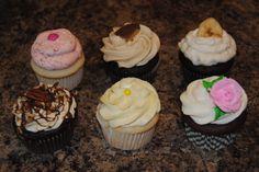 WHIPPED BUTTERCREAM CUPCAKES:  Peanut Butter Cup on Chocolate Cake, Strawberry on White Cake, Banana on Chocolate Cake, Lemon Curd on White Cake, Vanilla on Chocolate  Cake, Chocolate-Caramel Turtle on Chocolate Cake... ORDER HERE-->  https://www.facebook.com/StefsEvents .... #Cupcakes #PeanutButter  #Strawberry #Banana #Lemon #Vanilla #Turtle #Kenosha  #foodporn ... Kenosha, WI... Northern IL