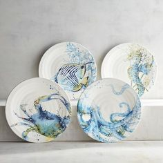 Under the Sea Salad Plate Set. How would these look in the plate rack in the dining room? Super cute, just not sure of the colors in there.