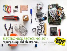 Helpful hints to reuse old or broken electronic equipment like iPods, televisions, laptops and other hardware.