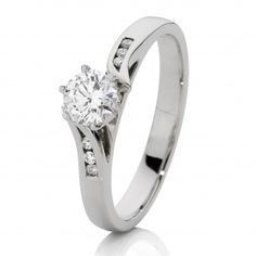 Canadian Fire 18ct White Gold Diamond Engagement Ring