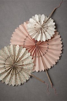 Great idea for a summer garden bridal shower or baby girl shower. Crinkled Wheel Set (12) from BHLDN.