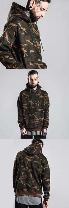 5cb1d7714be39 camo jacket hoodie · 2016 New Real Full Standard None V-neck Acetate  Tooling Military Camouflage Hoodies Large Size
