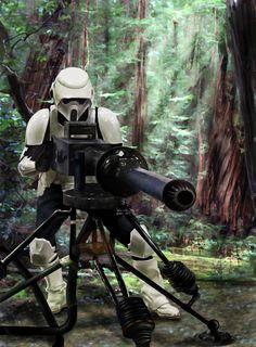 Star Wars :Scout Trooper by ~DookieAdz on deviantART [digital painting] | This art first pinned here: http://pinterest.com/fairbanksgrafix/star-wars-art/ #StarWars #Art