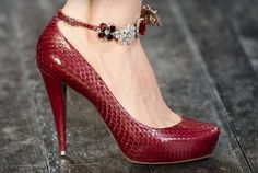 Nina Ricci Ankle Strap Pumps.