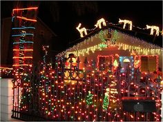 12 - Outrageously Over-the-Top Christmas Light Displays! Deck the Front Gates