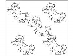 5 Póniló - Szám gyakorló gyerekeknek Disney, Disney Art