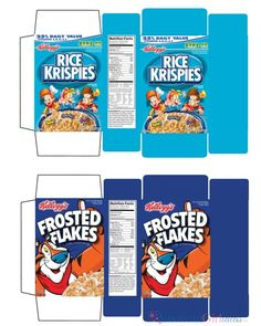Cereal Printables