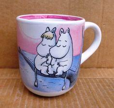Mumin romantika Kézzel festett kávés bögre #coffee #mug #love #HandPainted