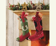 Cowboy stockings for the wild west! #Holidays #Stocking #Christmas