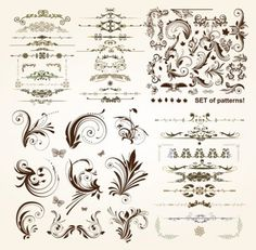Practical lace pattern vector classic europeanstyle Vector pattern - Free vector for free download