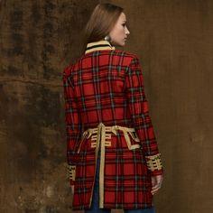 Ralph Lauren ~ Tartan Officer's coat IN LOVE with this coat! Tartan Clothing, Scottish Clothing, Scottish Fashion, Tartan Fashion, Look Fashion, Woman Fashion, Ralph Lauren, Tweed, Scottish Plaid