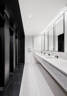 Electronic Arts Offices - Montreal Bathroom Interior Design, Industrial Bathroom Design, Washroom Design, Industrial Office, Commercial Interior Design, Commercial Interiors, Office Interior Design, Industrial Table, Industrial Bedroom