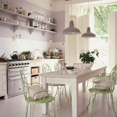 kitchen decorating ideas | Retro Modern Kitchen Decorating Ideas, Open Kitchen Shelves for ...