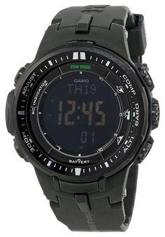 Casio Men's PRW-3000-1ACR Protrek Digital Display Japanese Quartz Black Watch #casio #men #watch