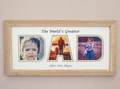 #Personalised #Father'sDay #Photo Frame / Gift for Dad by CornelDawn #etsy