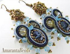 Queen of the  Sea   Soutache Earrings  Made in от AmarantaBeads, €63.00