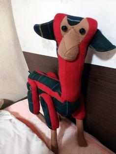 라마입니다. 봉제인형 첫 작품!