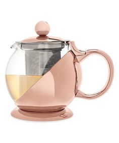 Look at this #zulilyfind! Rose Gold Shelby Wrapped Teapot & Infuser #zulilyfinds