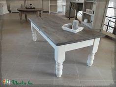 Festett fenyő dohányzóasztal, Bútor, Asztal, Meska