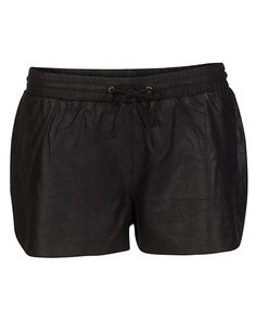 Spikes and Diamonds: Black leather boxing shorts are what I never knew I always wanted