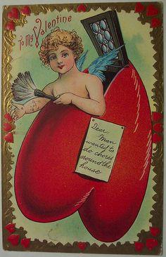Vintage Valentine's Day Postcard | Dave | Flickr