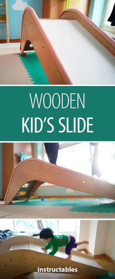Making a wooden slide requires minimal tools and is great for beginners! Making a wooden slide requires minimal tools and is great for beginners!