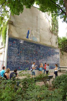 El muro de los Te Quiero en París - San Valentín