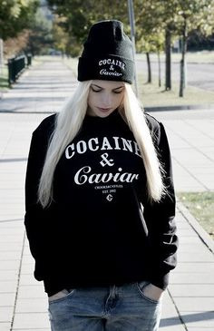 HAT: http://www.glamzelle.com/collections/accessories/products/cocaine-caviar-black-beanie