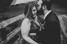 Maddie and Bryce's beautiful April wedding. They didn't let a little spring rain bother them. Image by Jennifer Woodbery