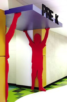 Elementary - Entry way School Hallways, School Murals, Daycare Design, Classroom Design, Primary School, Elementary Schools, Kindergarten Design, Nursery School, School Building