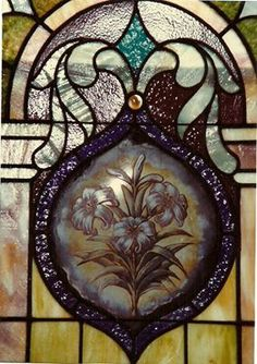 """Beautiful Lilies Stained Glass Window Located In the Heislerville United Methodist Church, Heislerville (Cumberland County), NJ.  John 11:25 """" I am the resurrection and the life: He that believeth in Me, though he were dead, yet shall he live."""" <3  Thanks to Margaret (Peterson) Shepard and Andy Sarclette <3"""