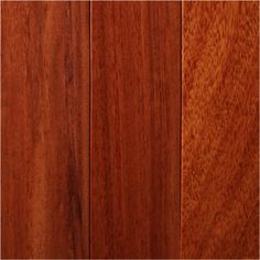 I love hardwood floor. No laminate for my dream home! I really like the warmth in mahogany :) Only downside is constant swiffering