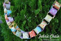 """Fabric Chain"" - what a fun idea for a family keepsake! Would be great for seasonal or parties! :D"