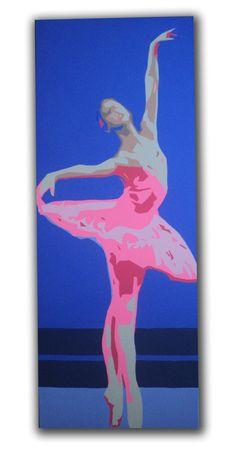 Ballerina Original Pop Art Portrait Painting ''Prima by edgeware, £250.00