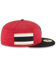 09314250a New Era Boys' Atlanta Falcons On Field Sideline Home 59FIFTY Fitted Cap -  Red/Black 6 5/8
