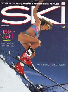 Alpine Skiing, Snow Skiing, Ski Magazine, X Movies, Vintage Ski, World Championship, The North Face, Art Deco, Cover