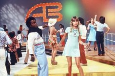 american bandstand after saturday cartoons... but everyone knows soul train was waaaaayyyyy groovier