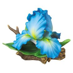 Andrea by Sadek Large Blue Iris Porcelain Flower Figurine |Pinned from PinTo for iPad|