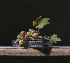"Saatchi Art Artist Roman Reisinger; Painting, ""Still life with wild grapes"" #art"