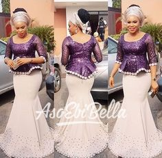 BellaNaija Weddings presents – Vol. 182 – The Latest Aso Ebi Styles African Lace Styles, African Lace Dresses, Latest African Fashion Dresses, African Dresses For Women, African Print Fashion, Africa Fashion, African Attire, Ankara Styles, African Clothes