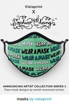 We're excited to reveal the Vistaprint Artist Collection Series 2. Discover face mask designs by leading artists like Sophia Chang, Face Oka, Just Don and more. Diy Masque, Plakat Design, Cat Icon, Graffiti Styles, Diy Gift Box, Learn English Words, My Journal, Sketch Design, New Artists