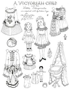 Paper Dolls to Color by Helen Page: Print these black & white versions, get out your watercolors, and try your hand at painting.