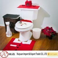 Fashion design Santa toilet seat cover for Christmas holiday