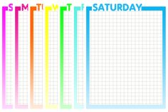 Day of the Week Printables