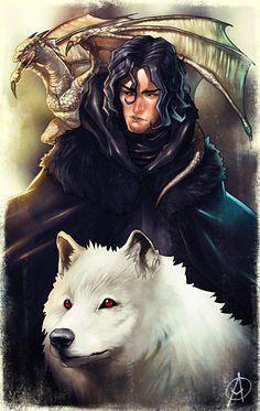 Jon Snow (if he was Rhaegar and Lyanna's Child) by TheAngryMammoth.deviantart.com on @deviantART