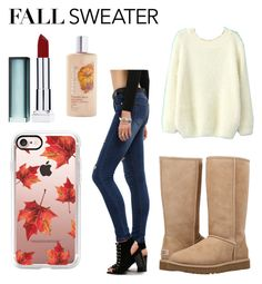 """""""Fall sweater"""" by fob1fan ❤ liked on Polyvore featuring UGG, Maybelline and Casetify"""